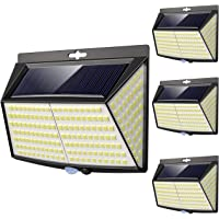 Vighep Luz Solar Exterior 228 LED,【4 Pack / 3 Modos】270 °lluminación Focos Solares…