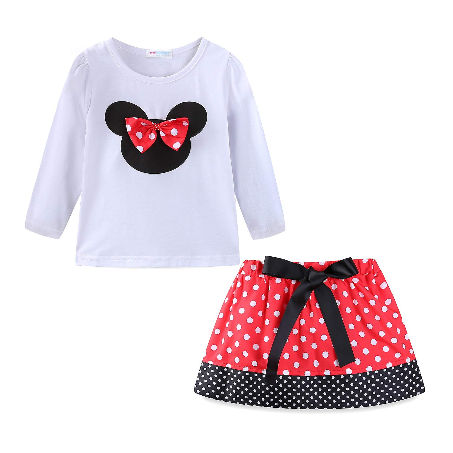 Mud Kingdom Little Girls Clothes Sets Cute Outfits Polka Dot Z-T0224