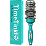 TimeTinkle Round Brush for Blow Drying - Thermal Ceramic Barrel, for Quick Styling & Salon Blowout, Cut Drying Time and Add V