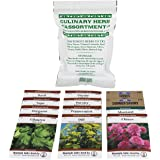 Assortment of 12 Culinary Herb Seeds - Non-GMO - Grow Cooking Herbs- Parsley, Thyme, Cilantro, Basil, Dill, Oregano, Sage, More