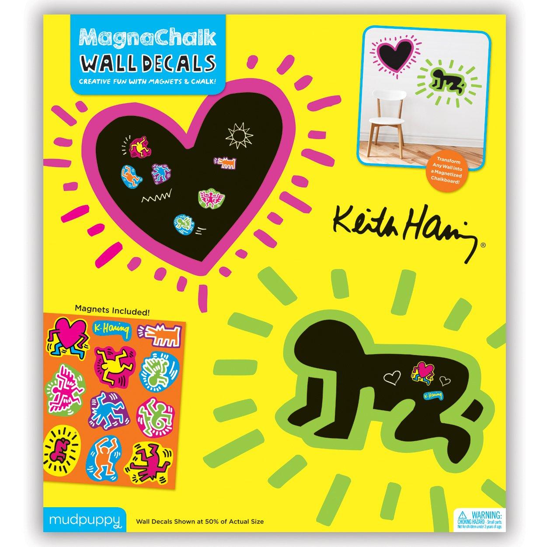 Amazon.com: Mudpuppy Keith Haring MagnaChalk Wall Decals: Mudpuppy ...