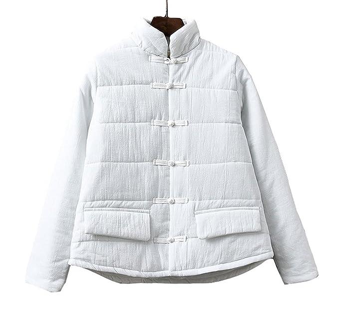 Lazutom - Abrigo - para Mujer Blanco Blanco Talla única: Amazon.es: Ropa y accesorios