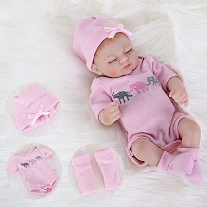 7cda6f03ce4b Amazon.com: ENA Reborn Baby Doll Realistic Silicone Vinyl Baby 10 inch  Weighted Soft Body Lifelike Doll Gift Set for Ages 3+: Home & Kitchen