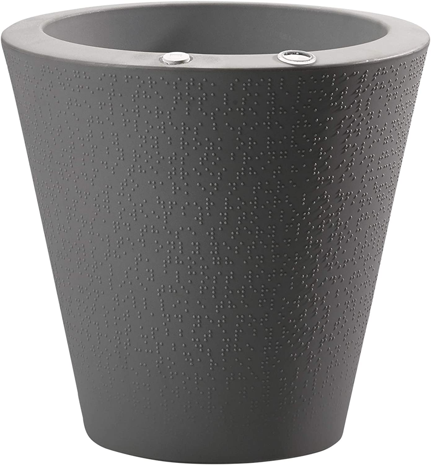 Crescent Garden Dot TruDrop Planter, Self-Watering Plant Pot, 16-Inch (Slate)
