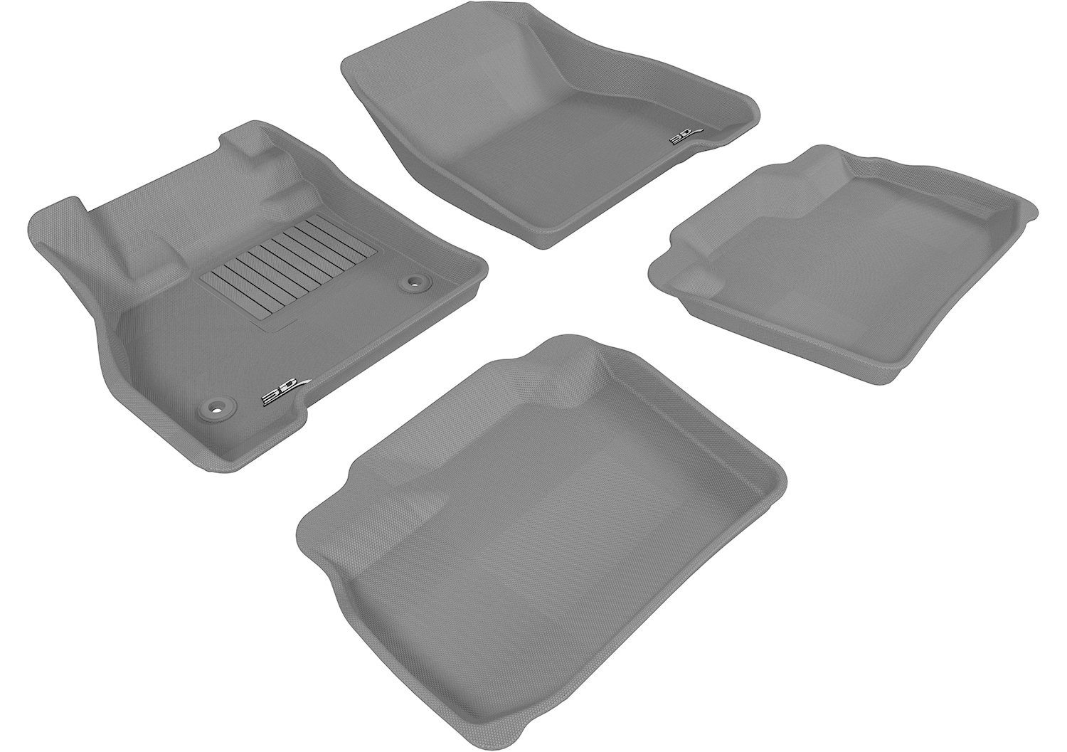 Kagu Rubber Gray 3D MAXpider Second Row Custom Fit All-Weather Floor Mat for Select Nissan Leaf Models L1NS04921501