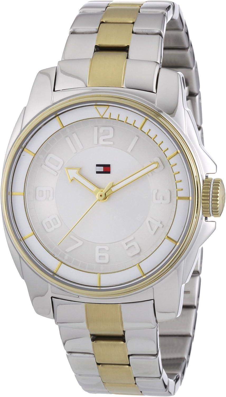 Tommy Hilfiger 1781228 - Reloj para Mujeres, Correa de Acero Inoxidable Chapado Multicolor