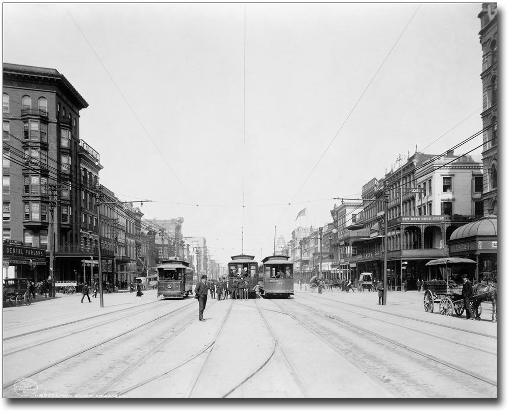 Canal Street New Orleans Louisiana 1907 11x14 Silver Halide Photo Print