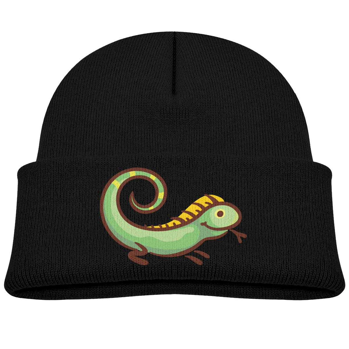 Lizard Knitted Hat Classic Skull Beanies Toddlers Cuffed Plain Cap