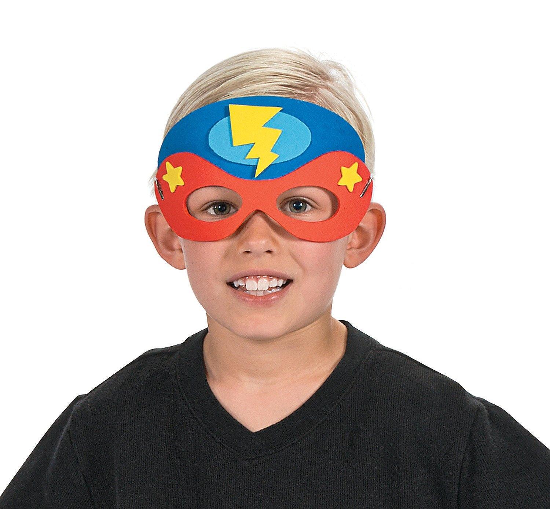 Amazon.com: Superhero Masks Craft Kits (Makes 12) Self-Adhesive ...