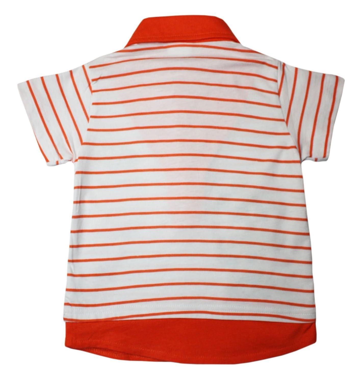 Ajiduo - Polo - Rayas - para bebé niño Naranja Naranja: Amazon.es ...