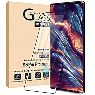 Comfort Valley Galaxy Note 10 Plus Screen Protector,Full Coverage Tempered Glass[2 Pack][3D Curved][Anti-Scratch][High Definition] Tempered Glass Screen Protector Suitable for Galaxy Note 10 Plus