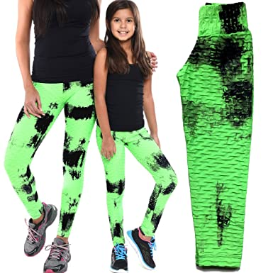 3dbe36072adb26 Mommy and Me Textured Leggings Pants Matching Outfit Set  (Women-Toddler-Little Kids