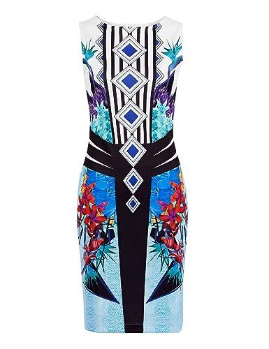 MOQUEEN Women's Slim Fit Floral Bodycon Tunic Dress 2161