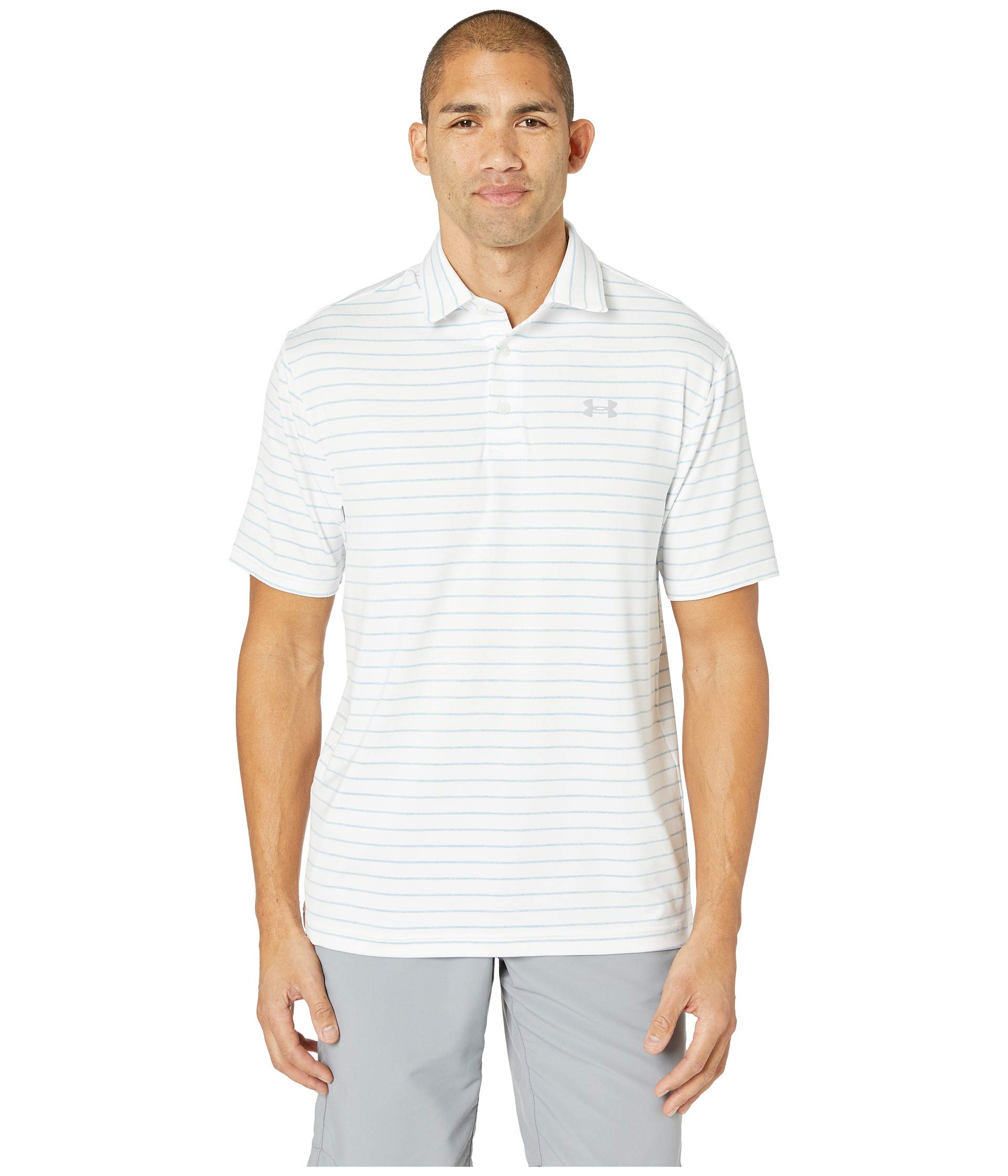 Under Armour Golf Men's Playoff Polo 2.0 White/Boho Blue/Mod Gray XXX-Large