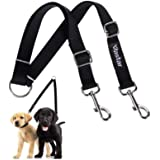 Vastar Double Dog Walker, Adjustable Heavy Duty Double Dog Leash for Pets, No Tangle Two Dogs Training Leash for Dogs up to 1