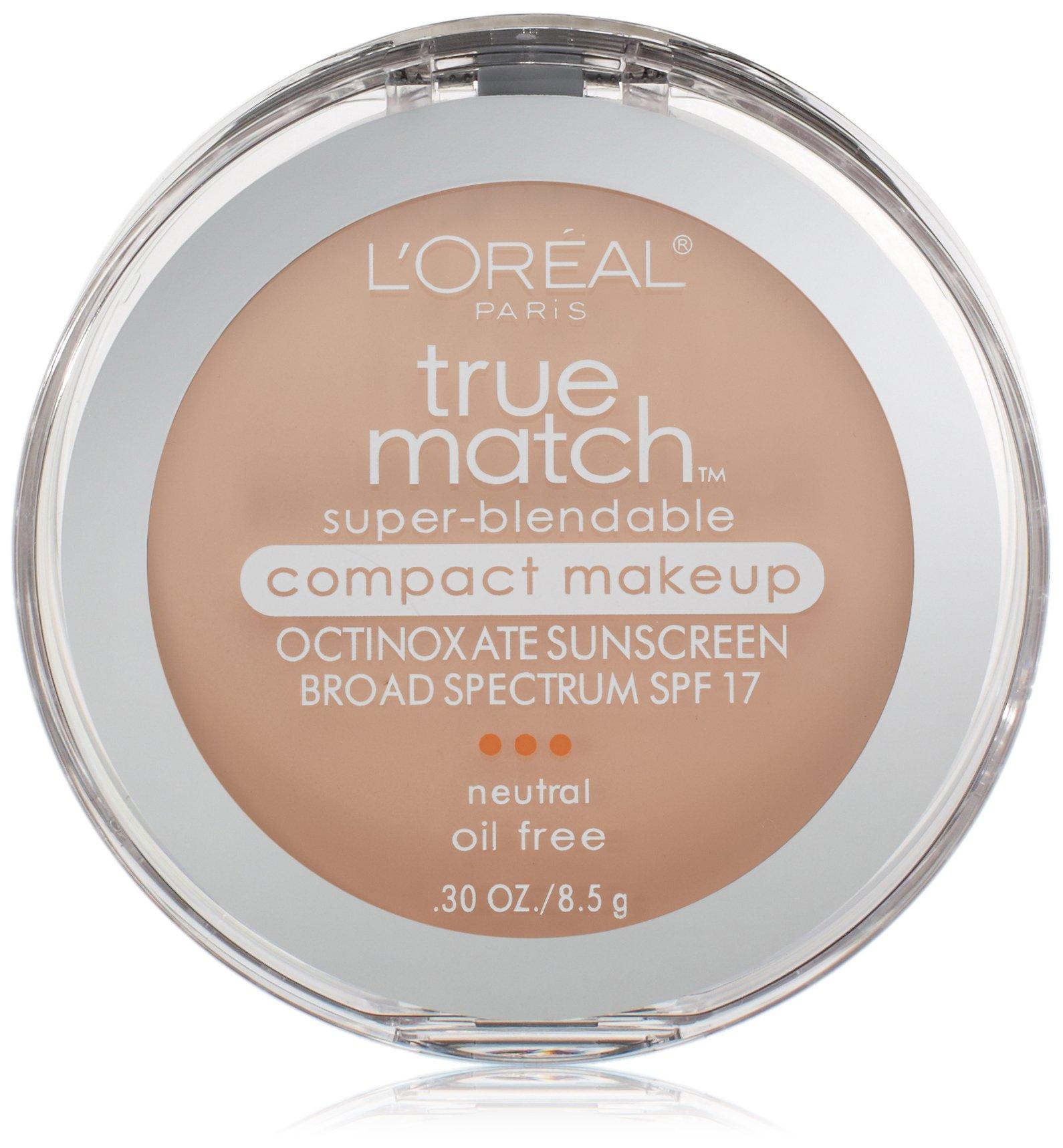 L'Oreal Paris True Match Super-Blendable Compact Makeup, Classic Ivory, 0.3 oz.