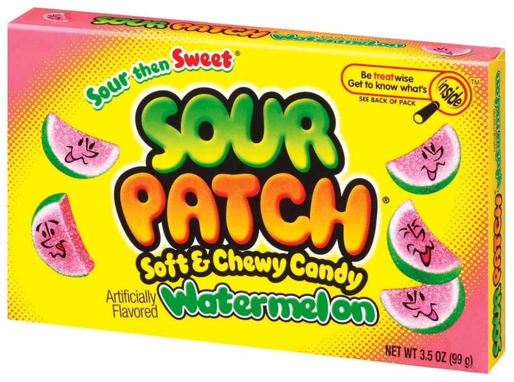 Sour Patch Watermelon Candy, 3.5-Ounce Boxes (Pack of 60) by Sour Patch