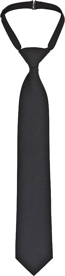 DESERMO Ajustable Security Corbata Negro, Nodos vorgebunden con ...