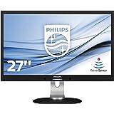 """Philips 272S4LPJCB Monitor 27"""", Quad HD 2560 x 1440, LED TN, 2 ms, Regolabile in Altezza, Girevole, Pivot, Tecnologia Multiview, Flicker Free, Audio Integrato, HDMI, Display Port, DVI, VGA, Nero"""