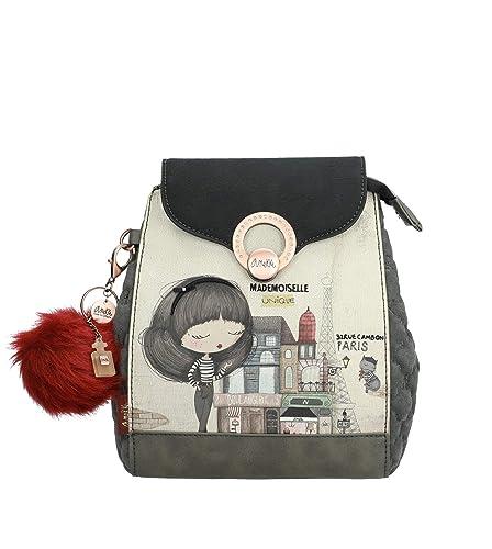 Anekke Original mochila estampada en tono gris: Amazon.es ...