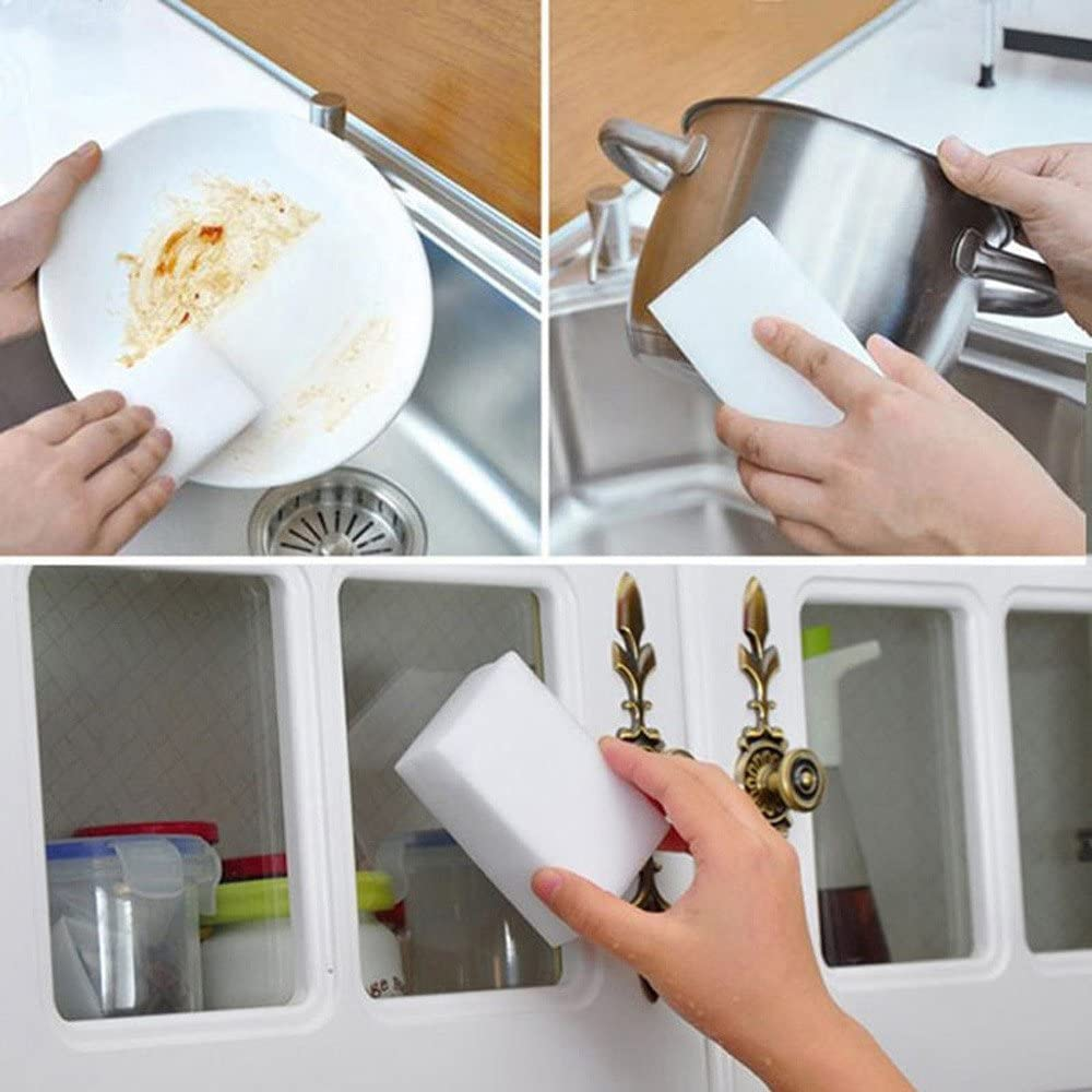 50PCs 50Pcs Magic Cleaning Sponge Foam Eraser Multi-Functional Nano Sponge Cleaning Tool Sponges