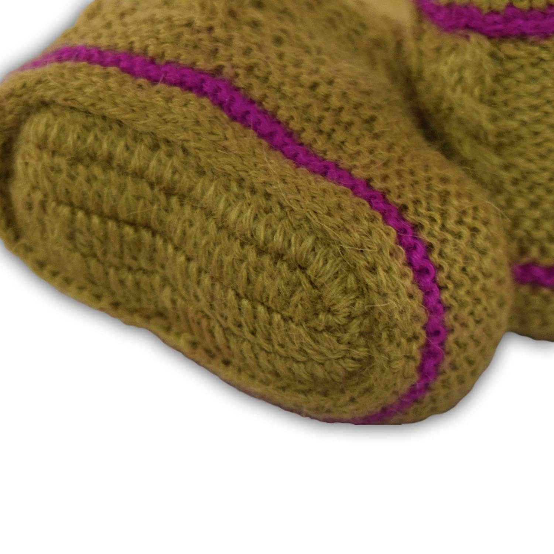 Mama Ocllo - Baby-Boots, 100% Baby Alpaka Wolle, Farbe grün, one size, Fairer Handel, Handmade, Handgestrickt