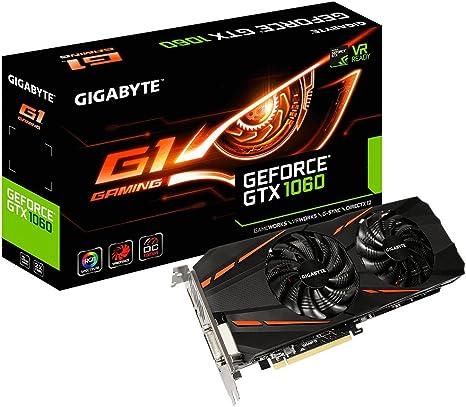 Amazon.com: Gigabyte GeForce GTX 1060 G1 GV-N1060G1GAM-3GD ...