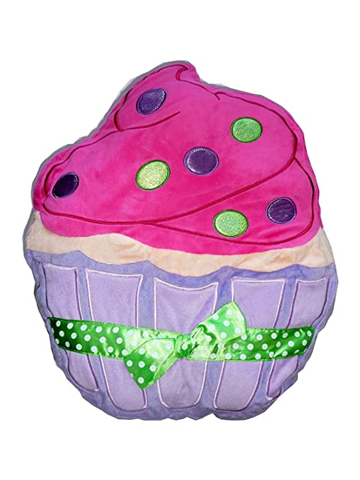 Amazon.com: Plush Pillow, diseño de cupcakes, color morado y ...