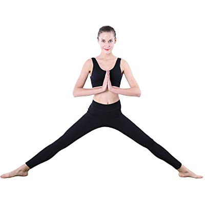 Seawhisper Black Leggings for Women Tummy Control Leggings Spandex Cotton Size M 8-10 at Women's Clothing store