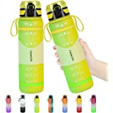 layajia Water Bottle, 34oz Nonslip Gallon Water Bottle, Leakproof BPA Free Tritan Sports Water Jug with Removable Strainer, S