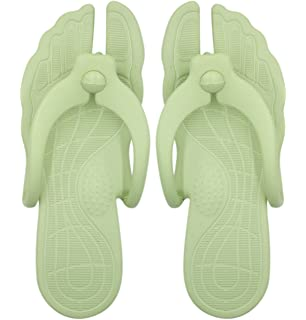aa683fff583bcb Aibearty Foldable Portable Women Flip Flops Lightweight Travel Slippers for  Indoor and Outdoor