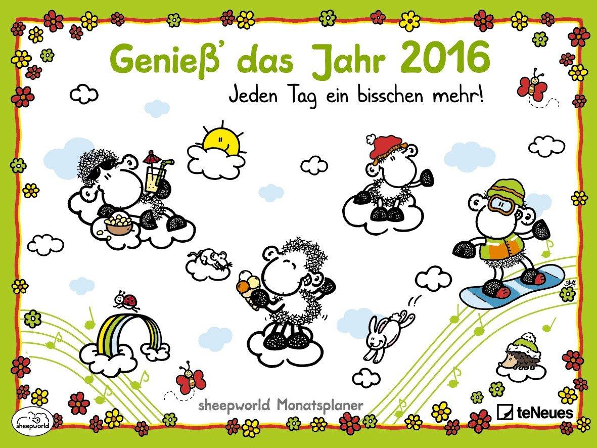 Sheepworld Monatsplaner 2016 - Wandplaner- 30 x 40 cm (geöffnet 60 x 40 cm)