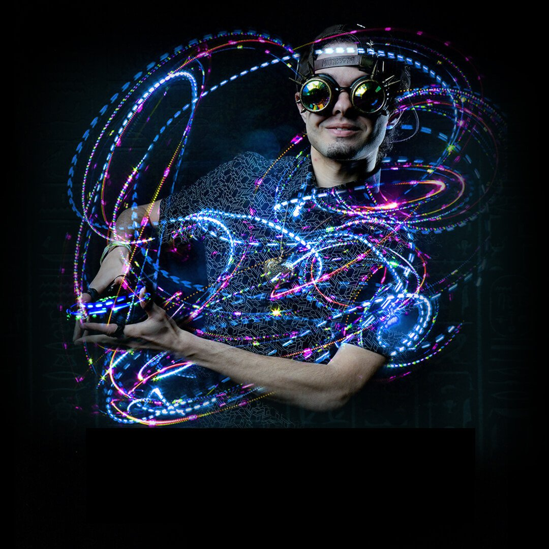 GloFX 2 LED Lux Orbit Light Orbit Rave Orbital Round Circle Zero Rattle