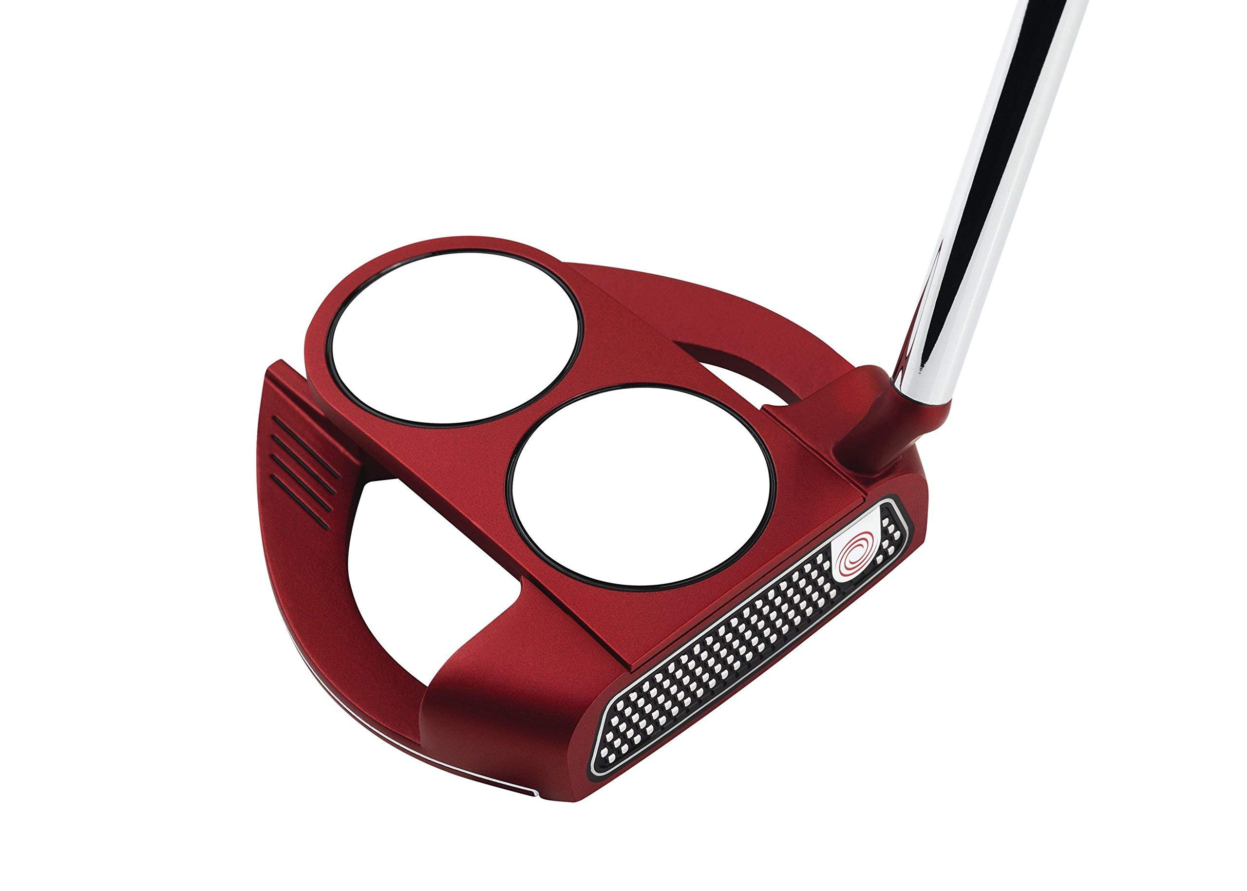 Odyssey O-Works Red 2-Ball Fang Slant Putter, 35 in (Renewed) by Callaway Golf