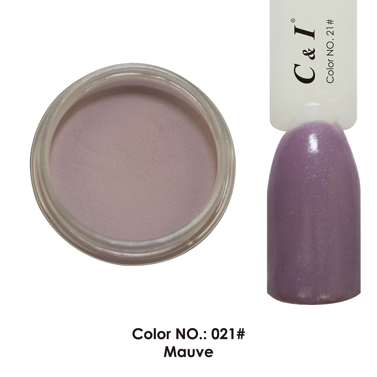 C & I Dipping Powder Color No.021 Mauve Purple Color System Fulei Trading