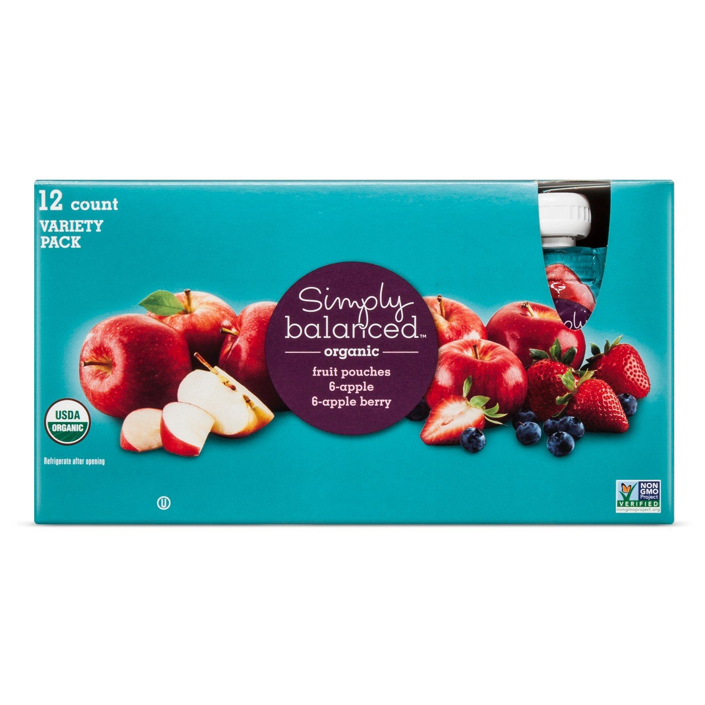 Organic Mixed Fruit Pouches 12ct - Simply Balanced
