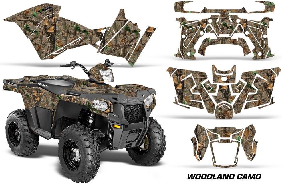 Woodland Camo AMRRACING Polaris Sportsman 90 2006-2016 Full Custom ATV Graphics Decal Kit