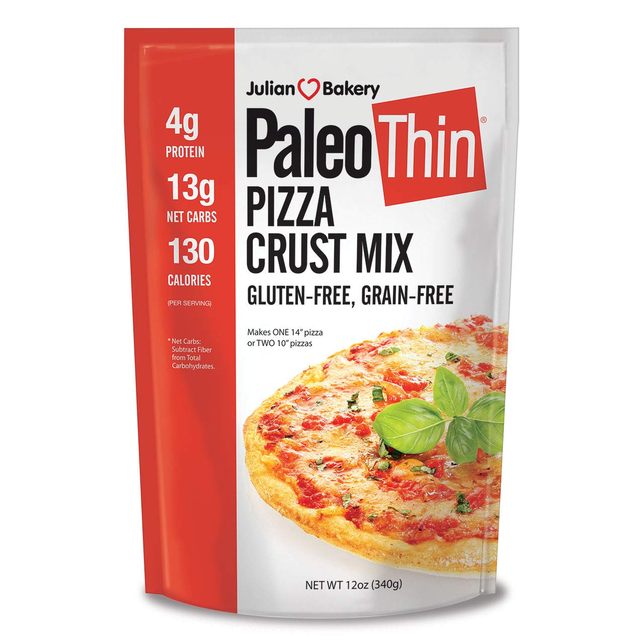 Julian Bakery | Paleo Thin | Pizza Mix | Easy To make | Grain-Free | Gluten-Free | Lower In Carbs | Makes Two 10'' Pizza Mix by Julian Bakery