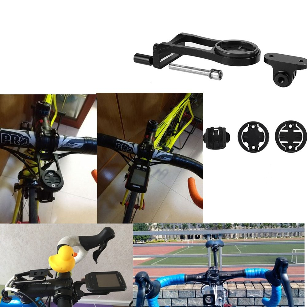 Kbrotech Bike Computer Out-Front Mount Bicycle Stem Extension Mount Holder for Gopro Garmin Cateye Bryton GPS Computer /& Sports Camera