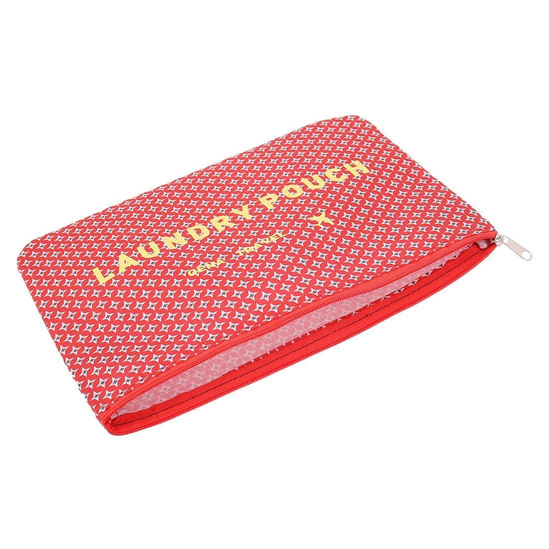 Amazon.com: eDealMax Patrón Estrella Exterior Con cremallera Cosméticos Ropa de equipaje de embalaje Almacenamiento Bolsa de viaje DE 6 en 1 Rojo: Home & ...