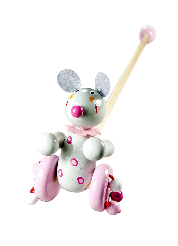 Mousehouse Gifts Madera Juguete para Arrastrar Arrastre ratón para ...