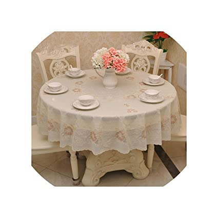 225 & Amazon.com: Rose Gold Oil Proof PVC Round Tablecloth 2 Layer Plastic ...