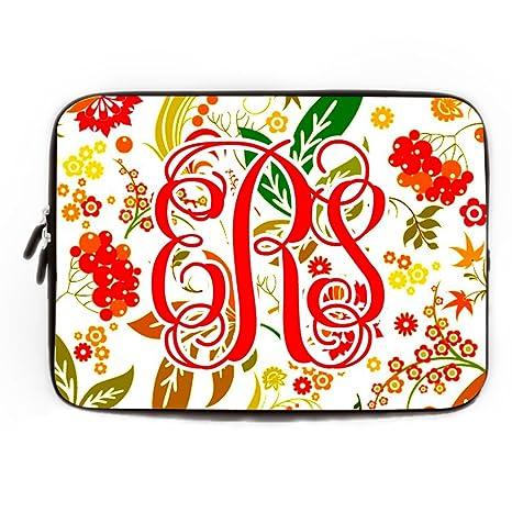 Personalizado floral ordenador funda blanda para MacBook Air 10 Pulgadas Monogram Lilly Pulitzer funda para portátil