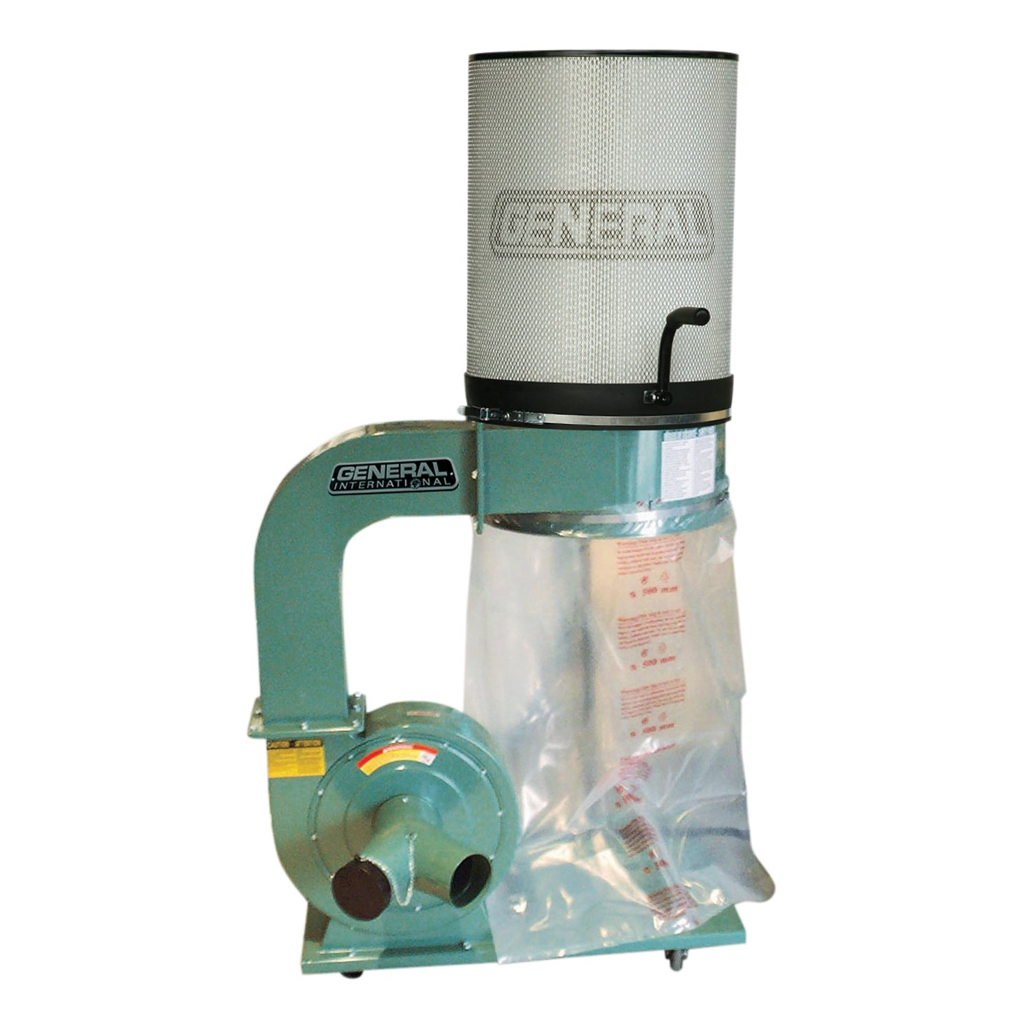 General International 10-110CF M1 2 HP Dust Collector with 1 Micron Canister Filter