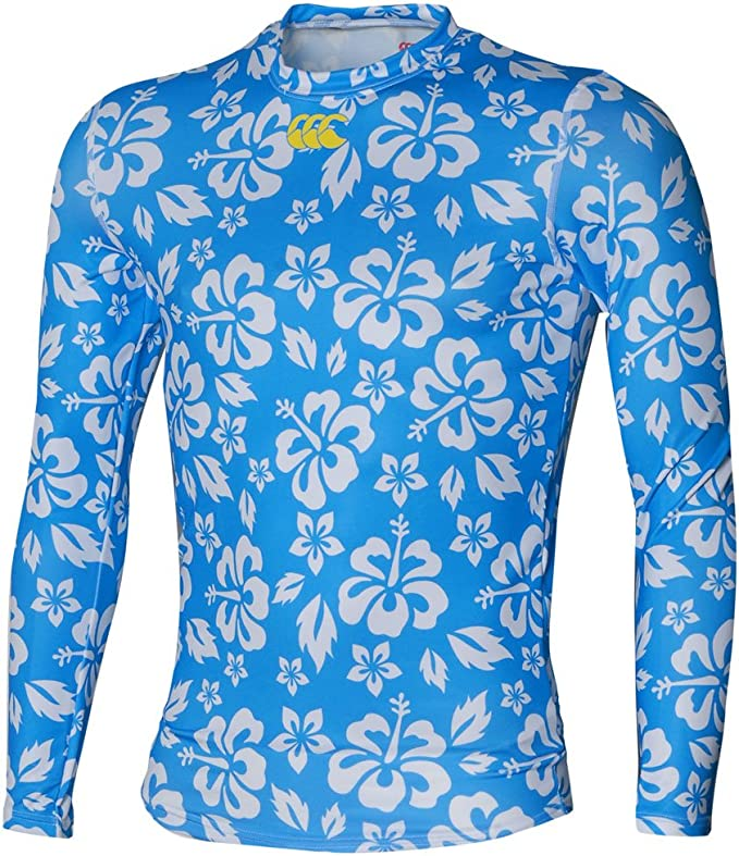 Canterbury-Camisa de Hawái, color azul cian azul celeste 44 ...