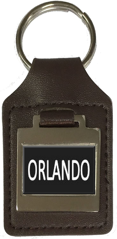 Leather Keyring Birthday Name Optional Engraving Orlando