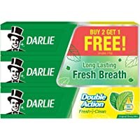 Darlie Double Action Toothpaste Buy 2 Get 1 Free Pack, 175 grams (Pack of 3)