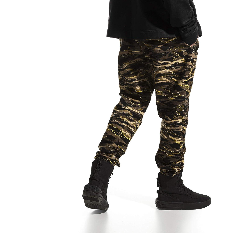 PUMA - Pantalón - Tapered - para Hombre Negro Camuflaje M: Amazon ...