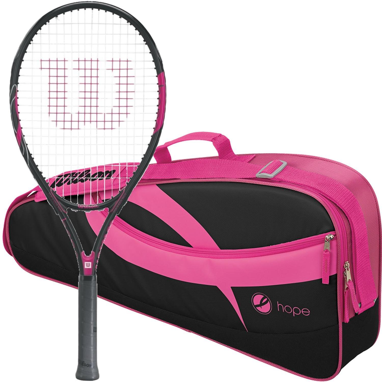 Wilson Hope pre-Strung Equipada con una Bolsa de Tenis Raqueta de ...