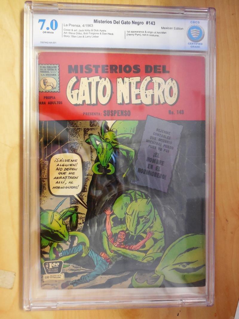 Amazon.com: Misterios del Gato Negro 143 CBCS Graded 7.0 1963 1st App of Ant-Man: Entertainment Collectibles
